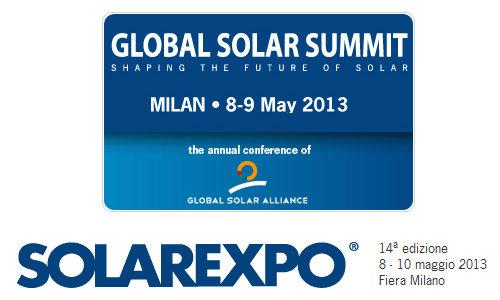 SOLAREXPO 14a edizione 8 – 10 maggio 2013 Fiera Milano