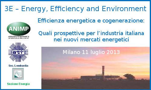 3E Efficienza Energetica e Cogenerazione – Milano, 11-07-2013