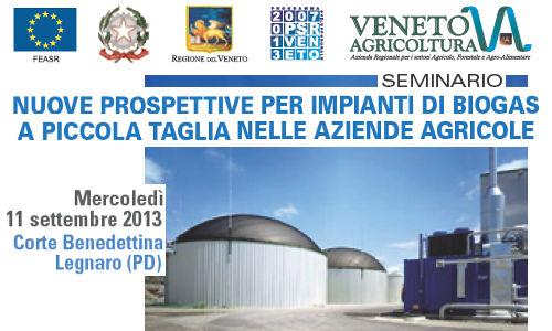 Seminario prospettive Impianti di Biogas a Piccola Taglia – Legnaro 2013