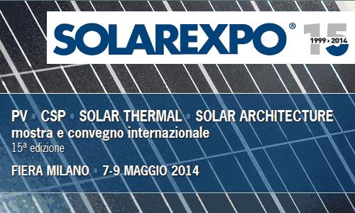 Solarexpo 2014 – mostra e convegno internazionale sull'energia solare