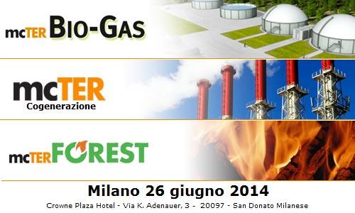 mcTER Milano 2014 – Biogas, Cogenerazione, Forest e Pompe di Calore